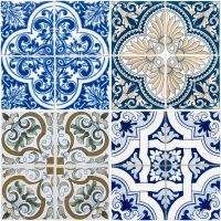Vintage ceramic tiles  Stock Photo  homydesign #9326258