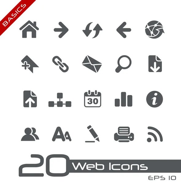 Web Icons // Basics — Stock Vector © palsur #10535234