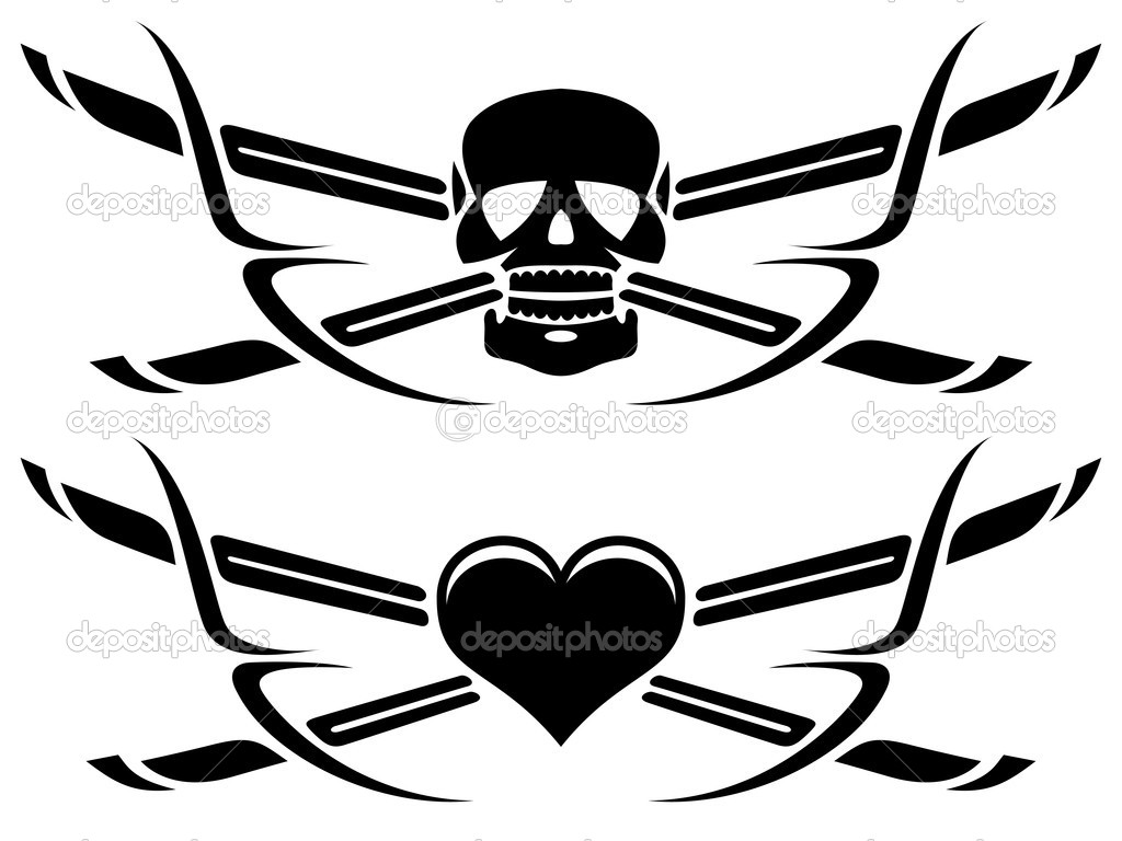 Life and death tattoo — Stock Vector © alisher #10347798