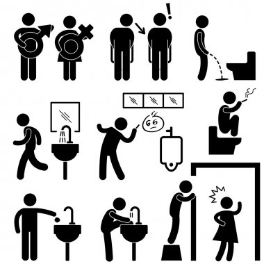 bathroom people premium vector download for commercial use