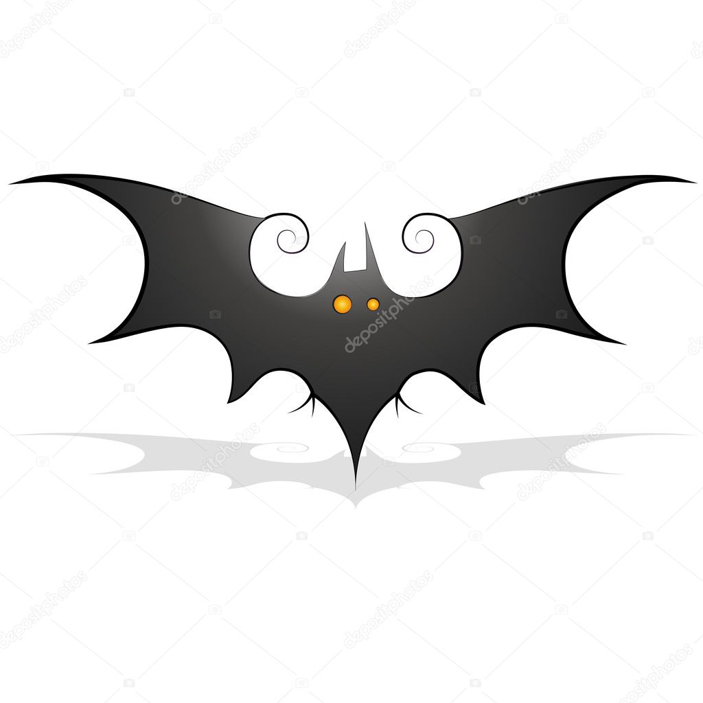 hight resolution of bat clipart stock illustration