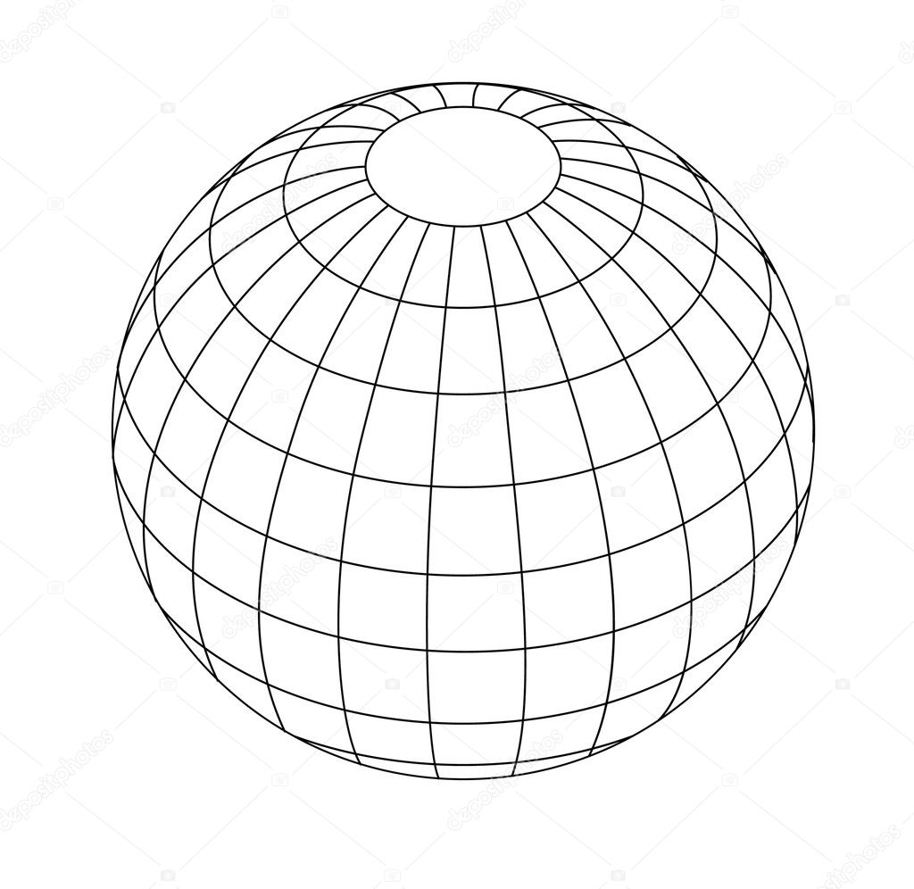 Wireframe Globe — Stock Vector © baavli #8252518