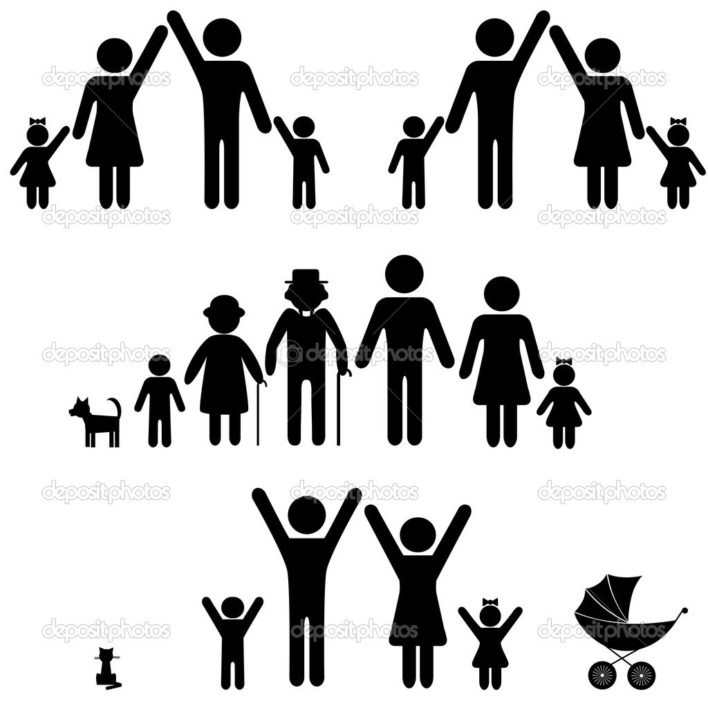 Family icons. — Stock Vector © svetap #8322502