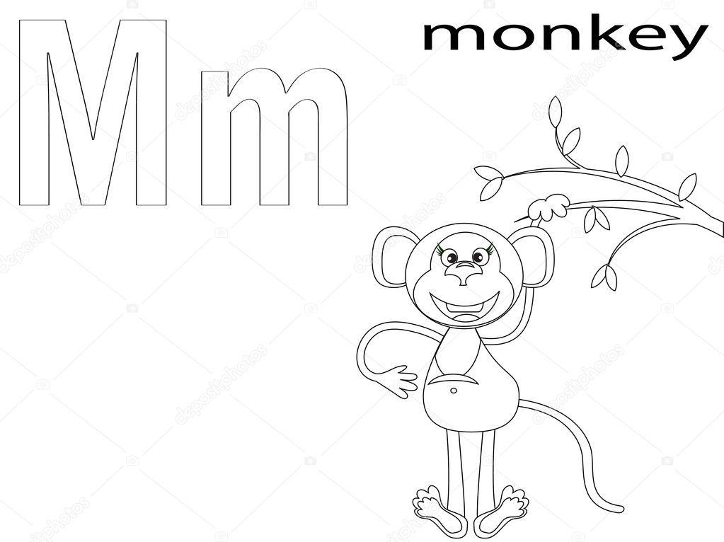 Coloring Alphabet for Kids ,M — Stock Photo © Olaj775 #8741844