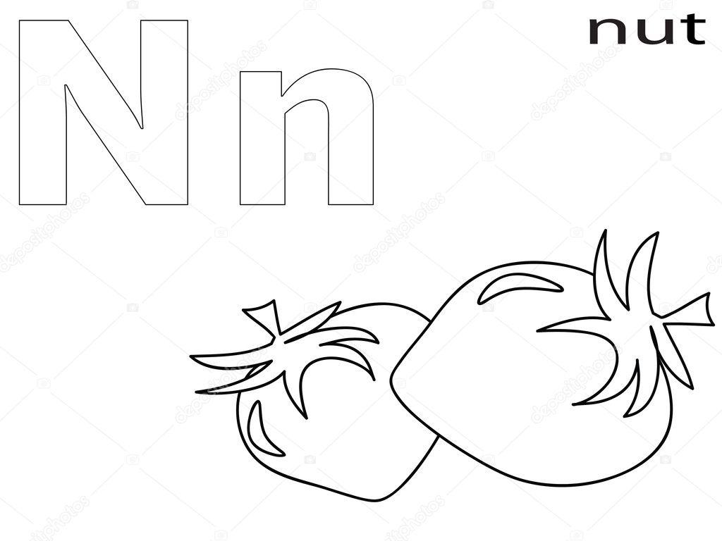 Coloring Alphabet for Kids ,N — Stock Photo © Olaj775 #8741884