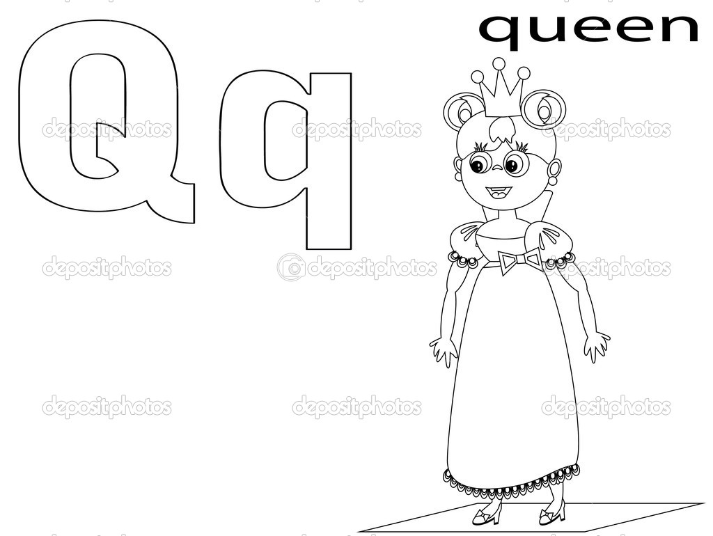 Coloring Alphabet For Kids Q