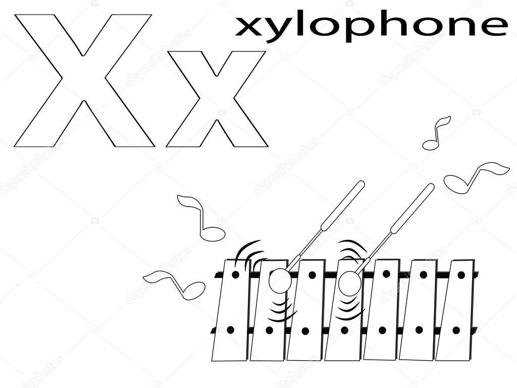 Coloring Alphabet for Kids ,X — Stock Photo © Olaj775 #8751777