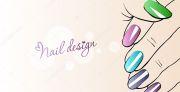 fashion nails. illustration of