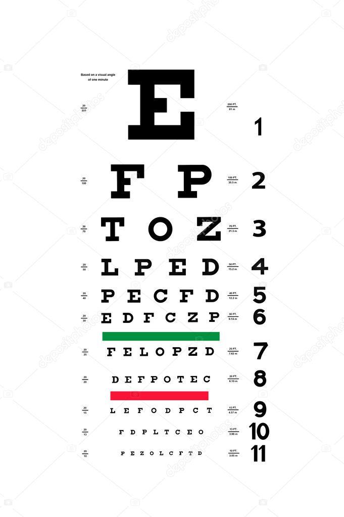 Eye test chart — Stock Photo © kelpfish #9336866