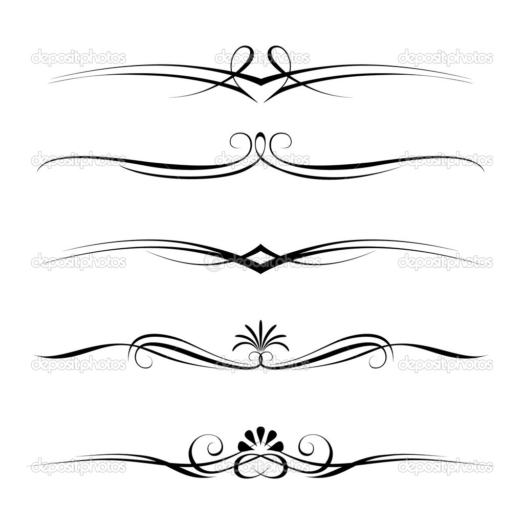 Decorative elements, border and page rules — Stock Vector