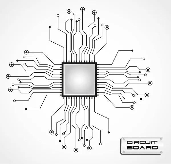 Circuit board cpu — Stock Vector © grgroupstock #10242626