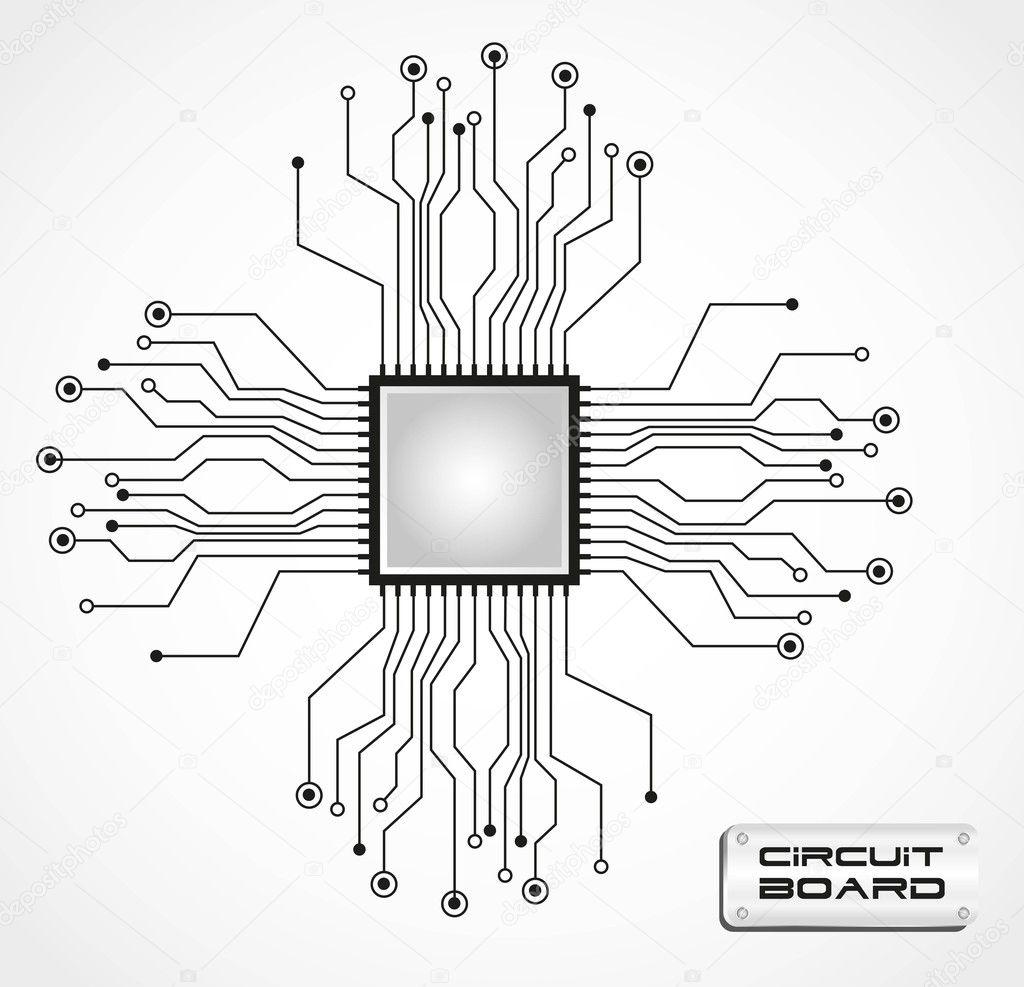Circuit board cpu — Stock Vector #10242626