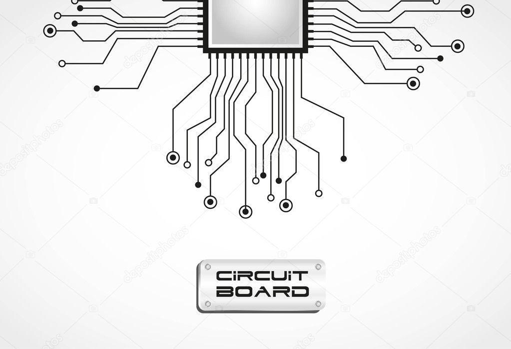 Circuit board cpu — Stock Vector © grgroupstock #10244124