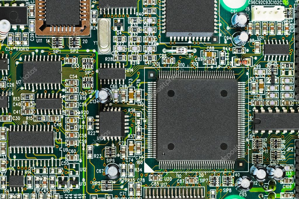 Drawing Printed Circuit Board Of Standard Size For Electronic Circuit