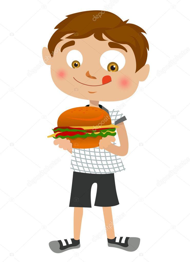 Vector comiendo hamburguesa  nio comiendo hamburguesa