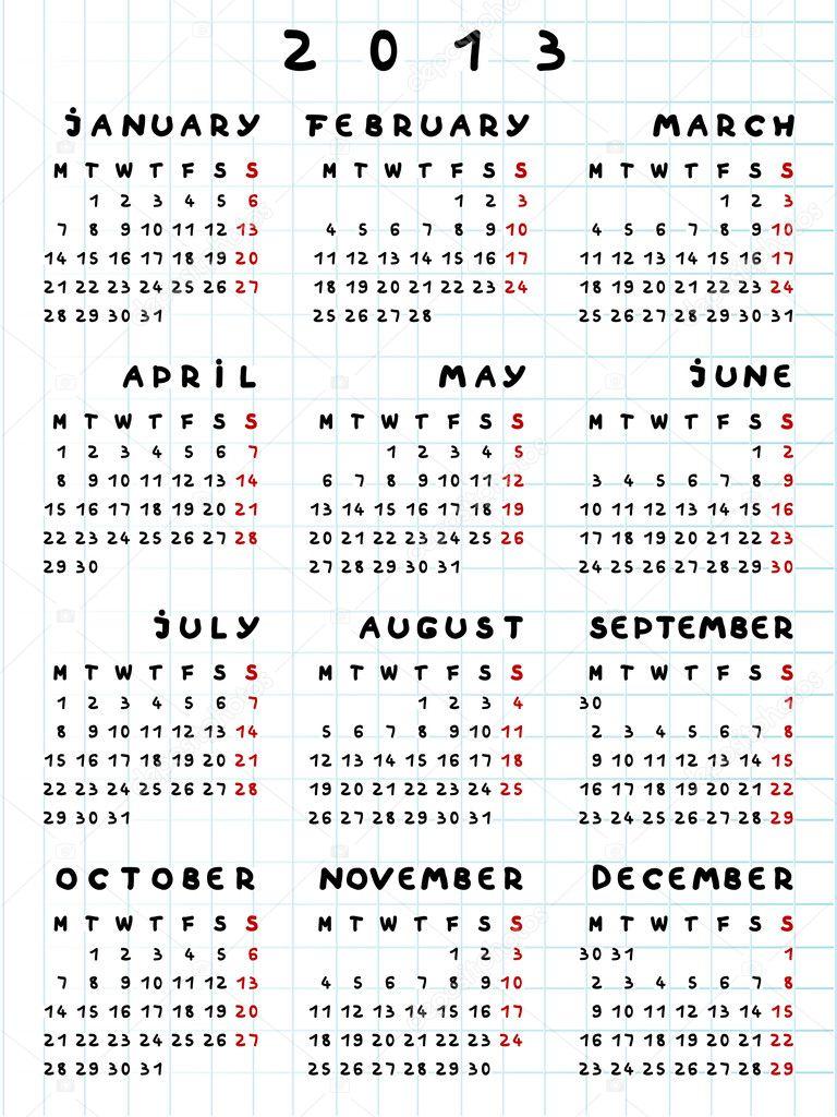 2013 calendar year of the snake — Stock Photo © richcat