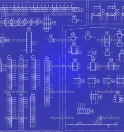 electrical wiring diagram background stock vector [ 1023 x 1021 Pixel ]