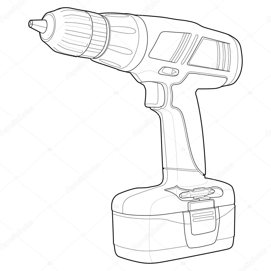 Drill outline — Stock Vector © gleighly #8372848