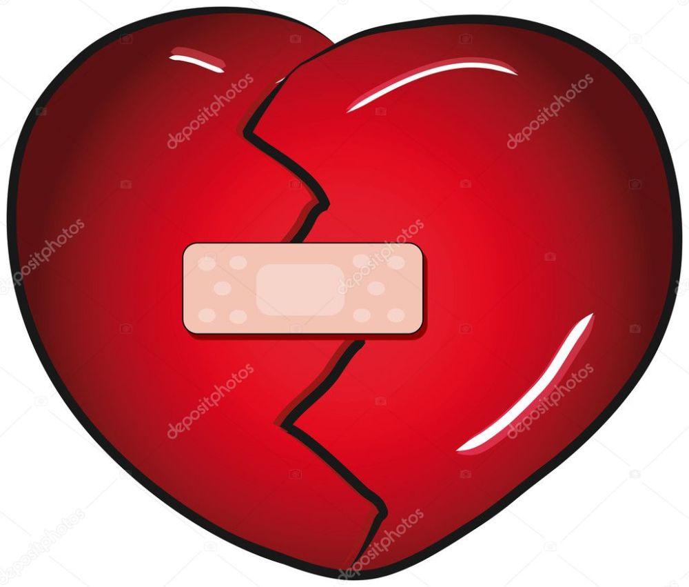 medium resolution of broken heart with a band aid vector clip art stock vector