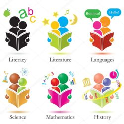 Vector Study Together Icons Set Stock Vector © Diamond Images #8700427