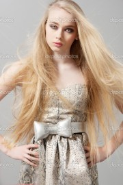 young woman with long blonde hair