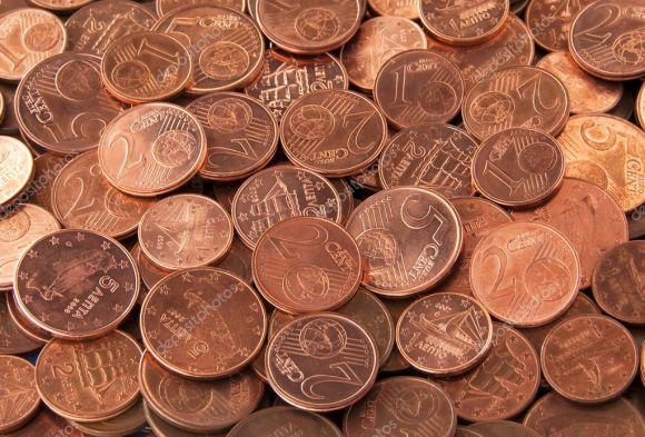 Αποτέλεσμα εικόνας για κερματα 1 και 2 λεπτα του ευρω