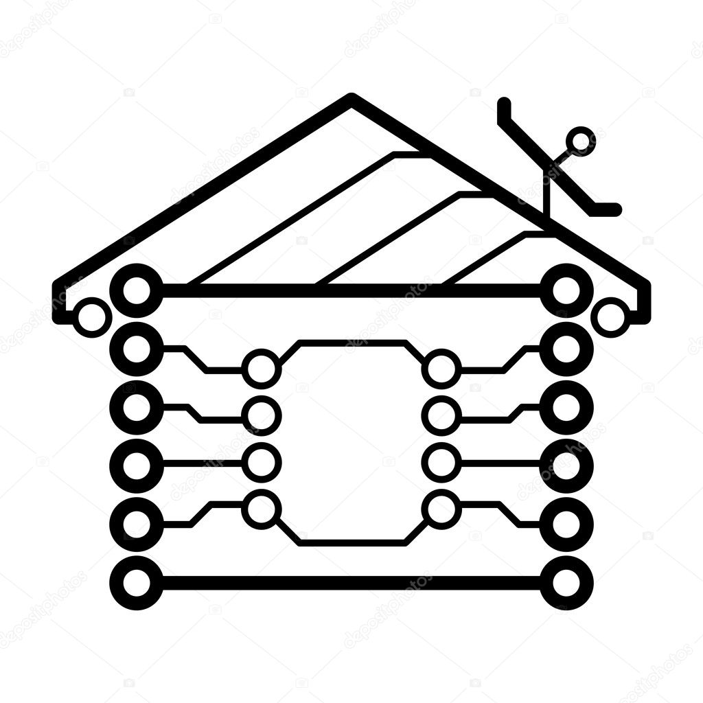 Vector Electronic House Logo