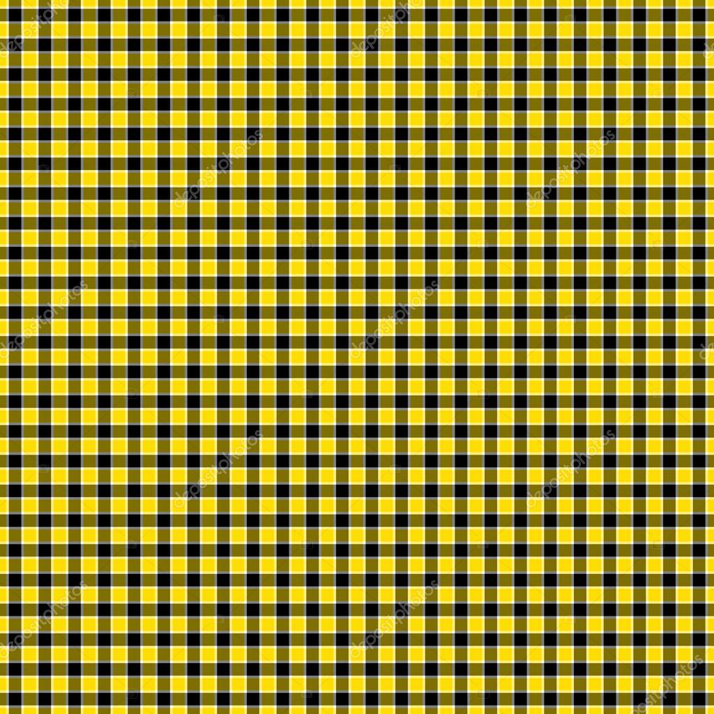 Sem Costura Preto Amarelo Branco Amp Check Papel De Parede