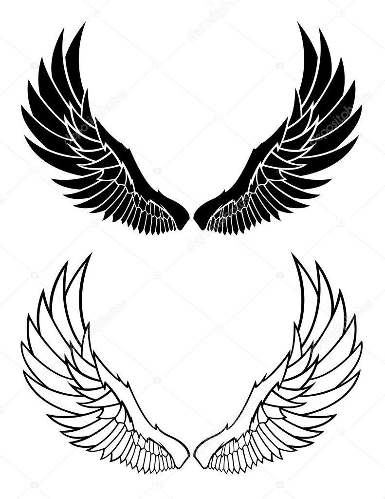 Vector Wing Graphics — Stock Vector © JRMurray76 #9211967