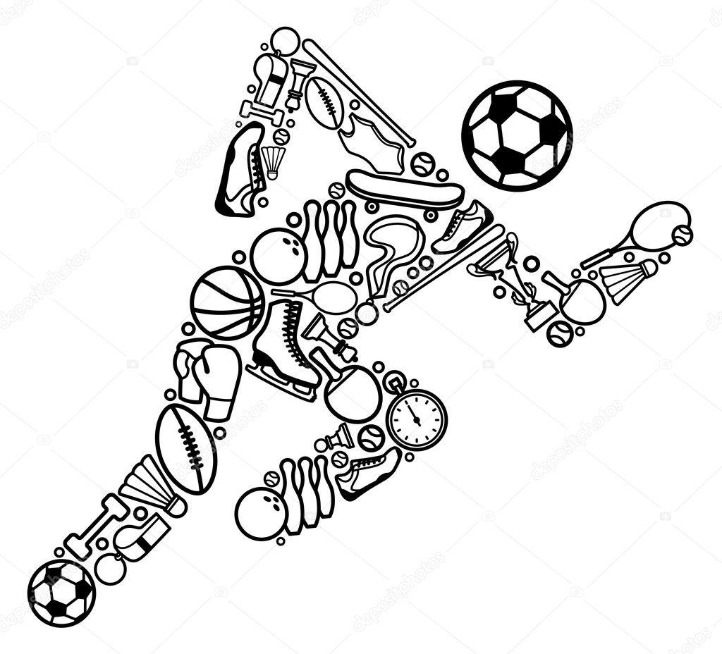 Sports symbol — Stock Vector © Klava #9528451