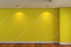 empty yellow wall depositphotos
