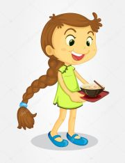 girl with long hair stock vector
