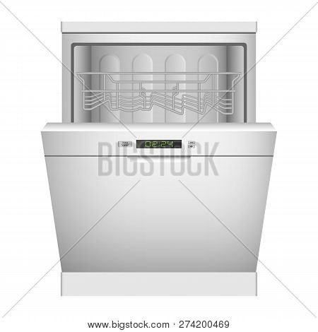 kitchen dishwasher icon realistic