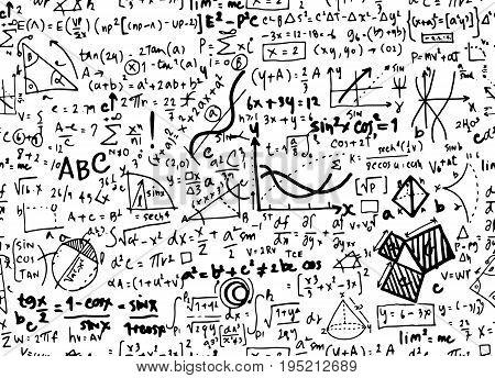 Math linear mathematics education circle background with