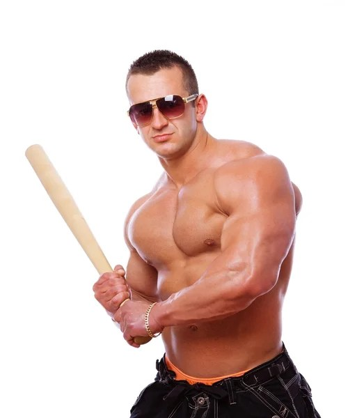 Image result for extremely strong man playing baseball