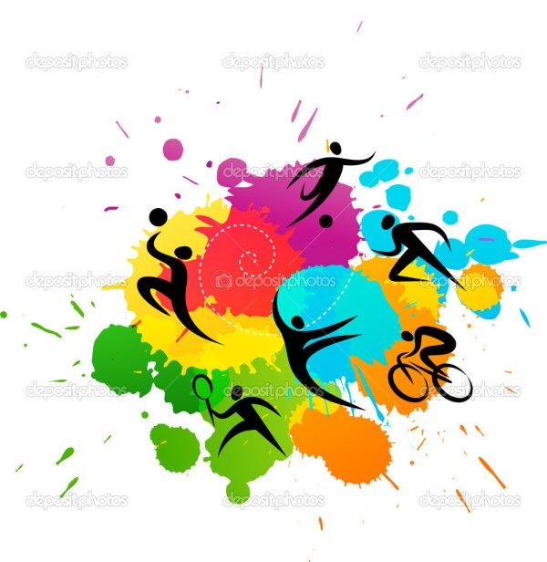 Sport Background - Colorful Vector Illustration Stock