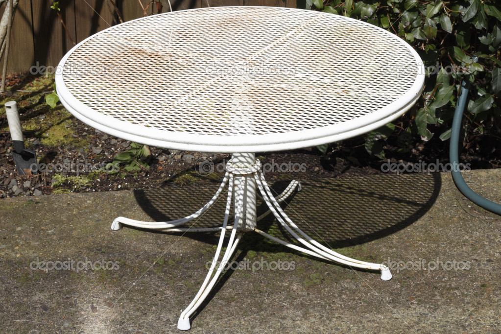 old white patio table stock photo image by c serenethos 11295217
