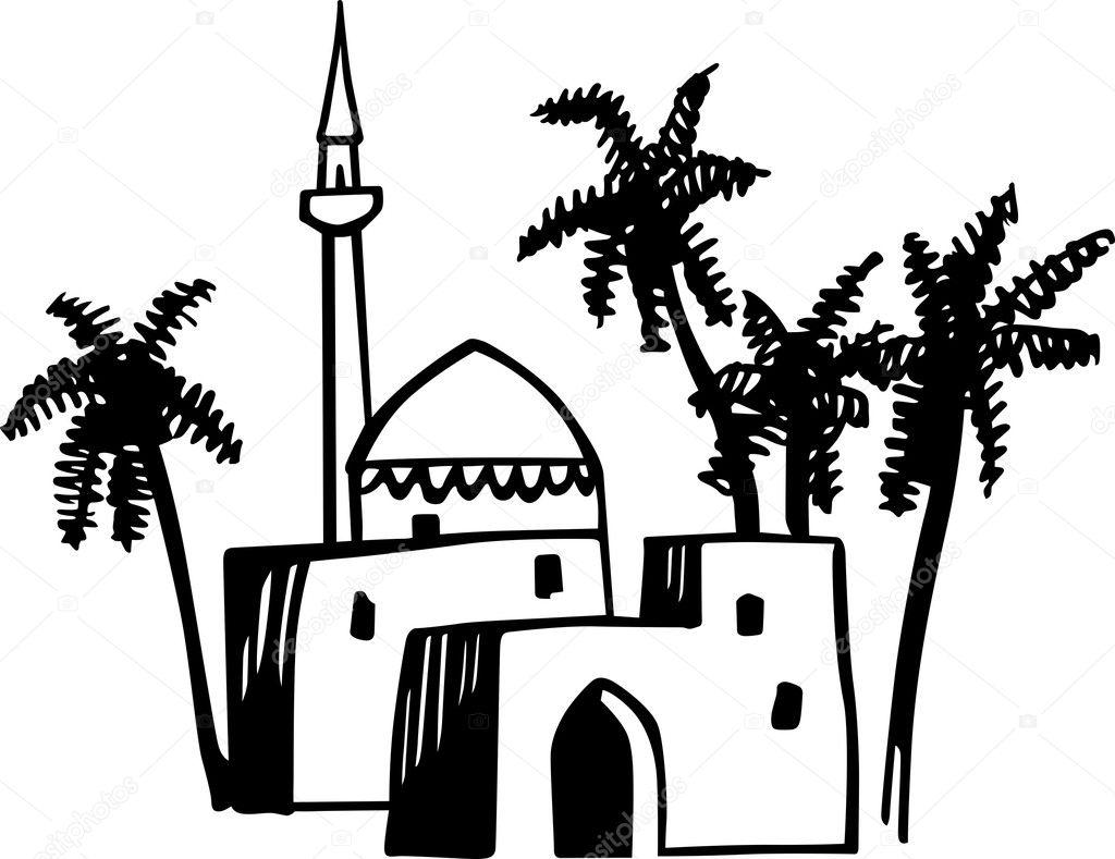 Arabic houses — Stock Vector © Den.Barbulat #11532453