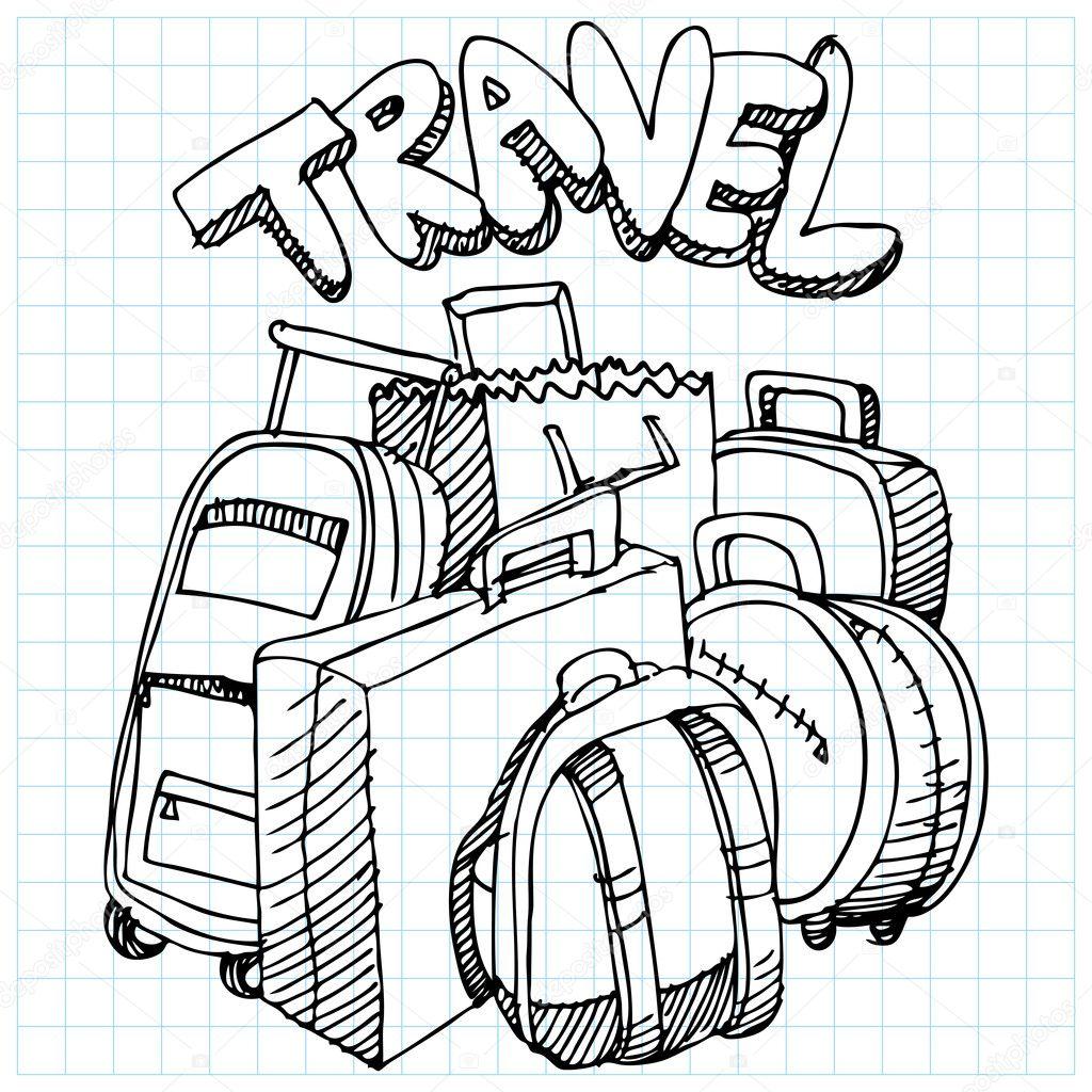 Travel Bag Drawing