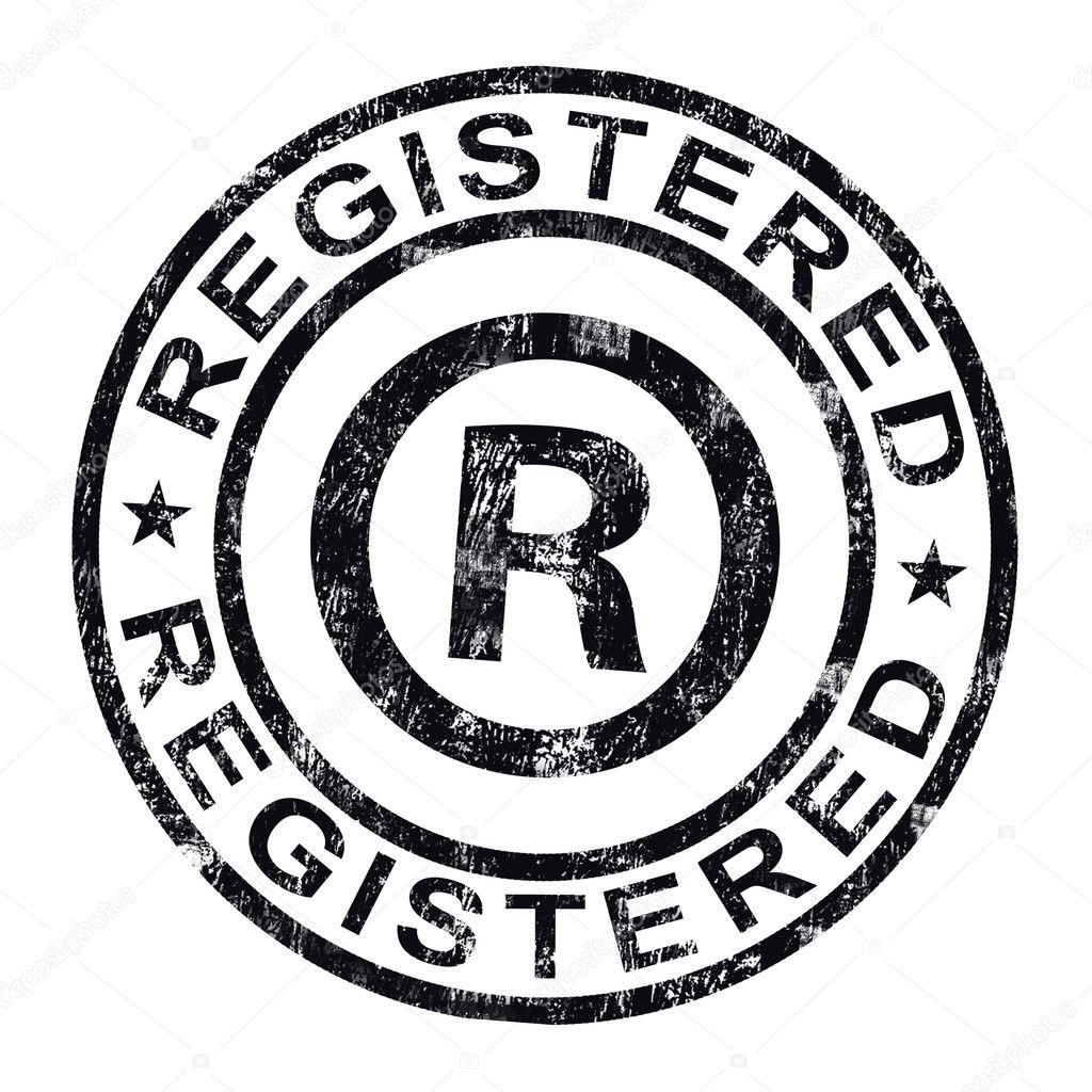 Registered Stamp Shows Copyright Or Trademark — Stock