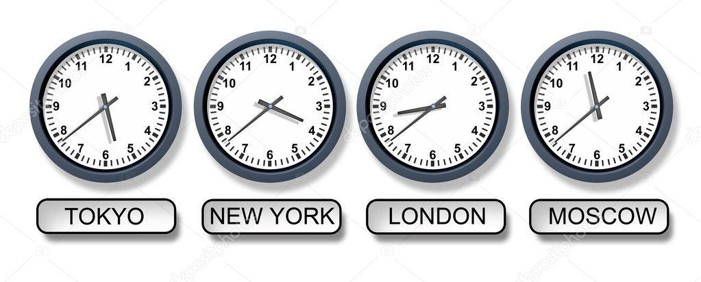 World Time Zone Clocks — Stock Photo © lightsource #11012002
