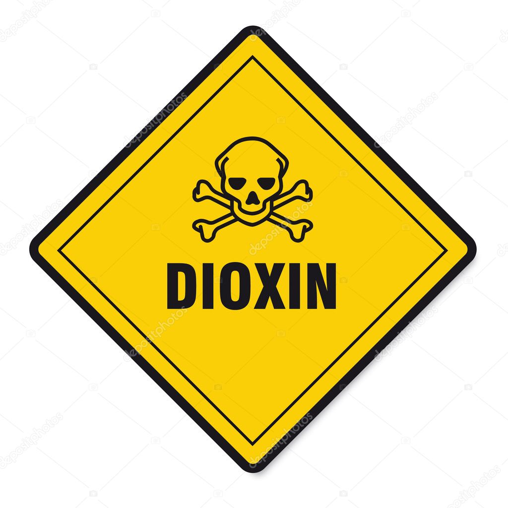 Dioxin food egg skull sign traffic sign — Stock Vector © rclassenlayouts #11418260