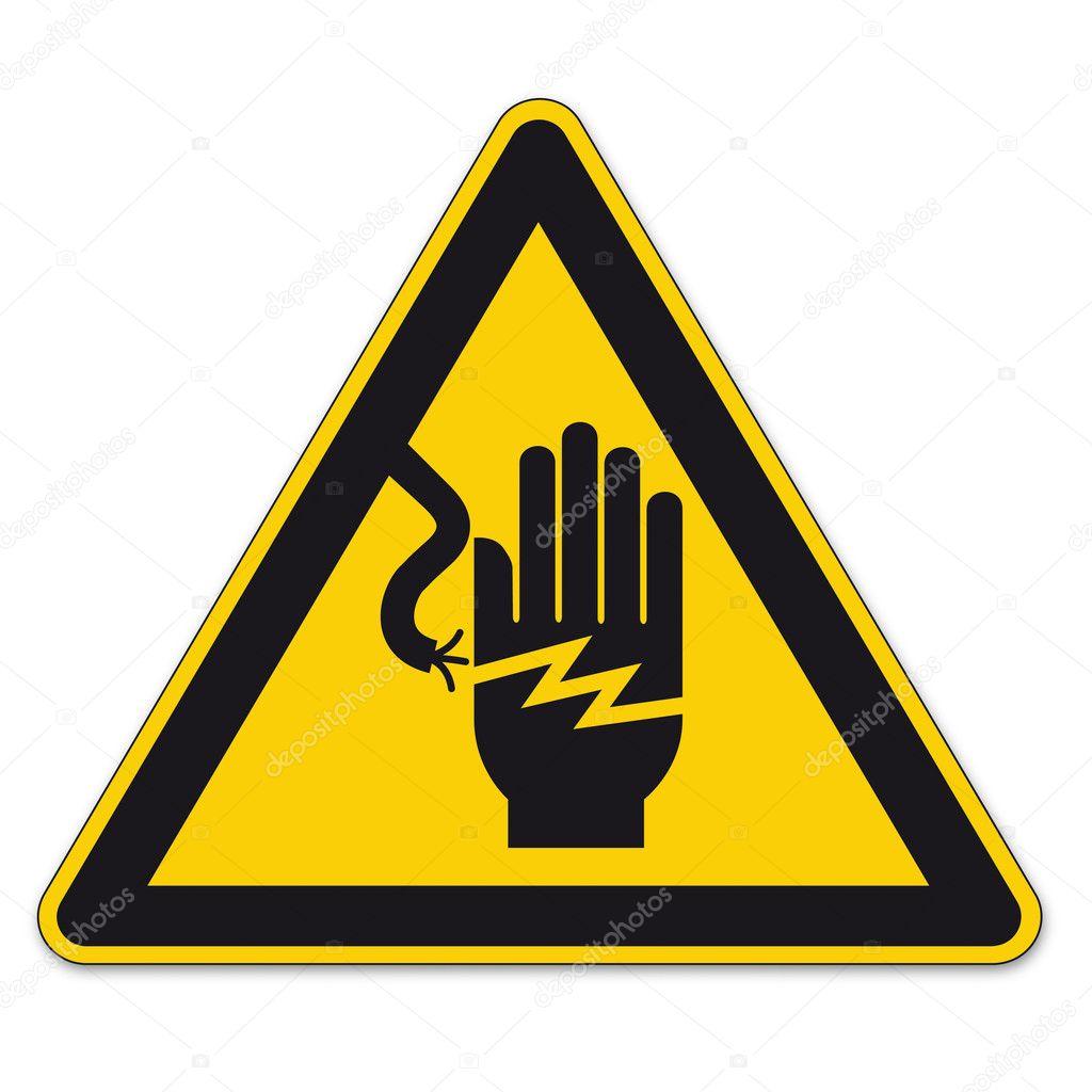 Sicherheitskennzeichnung Warnung Dreieck Zeichen Vektor