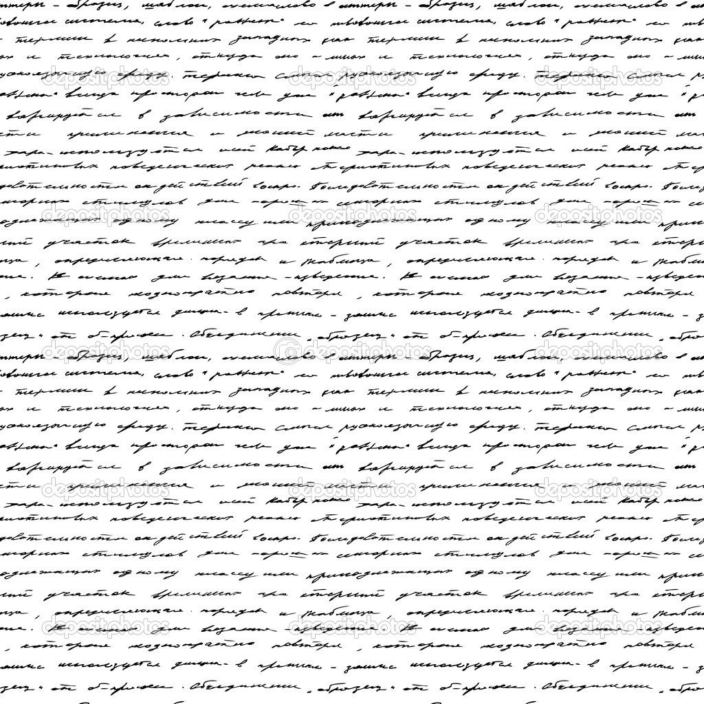 Handwriting Seamless Vector Background