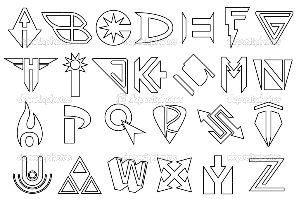 Superhero alphabet — Stock Vector © bigldesign #11525464