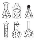 Laboratory test tubes — Stock Vector © kytalpa #29998625