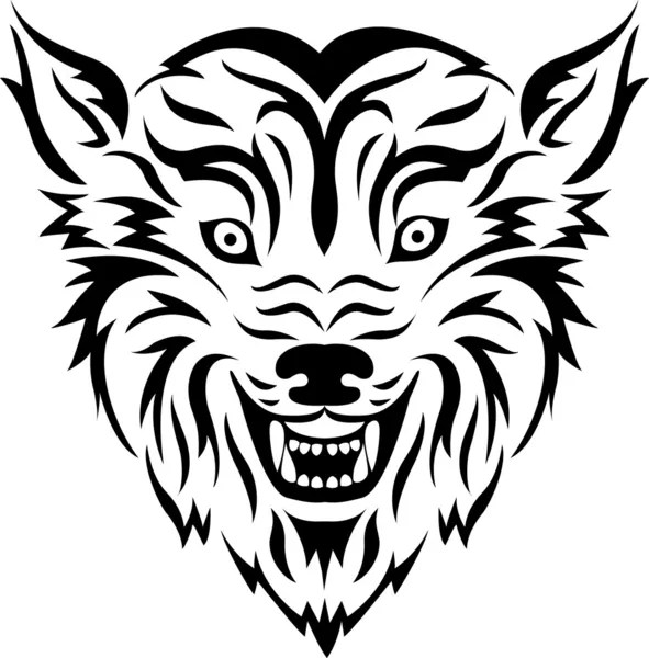 Wolf tribal tattoo — Stock Vector © idesign2000 #11904710
