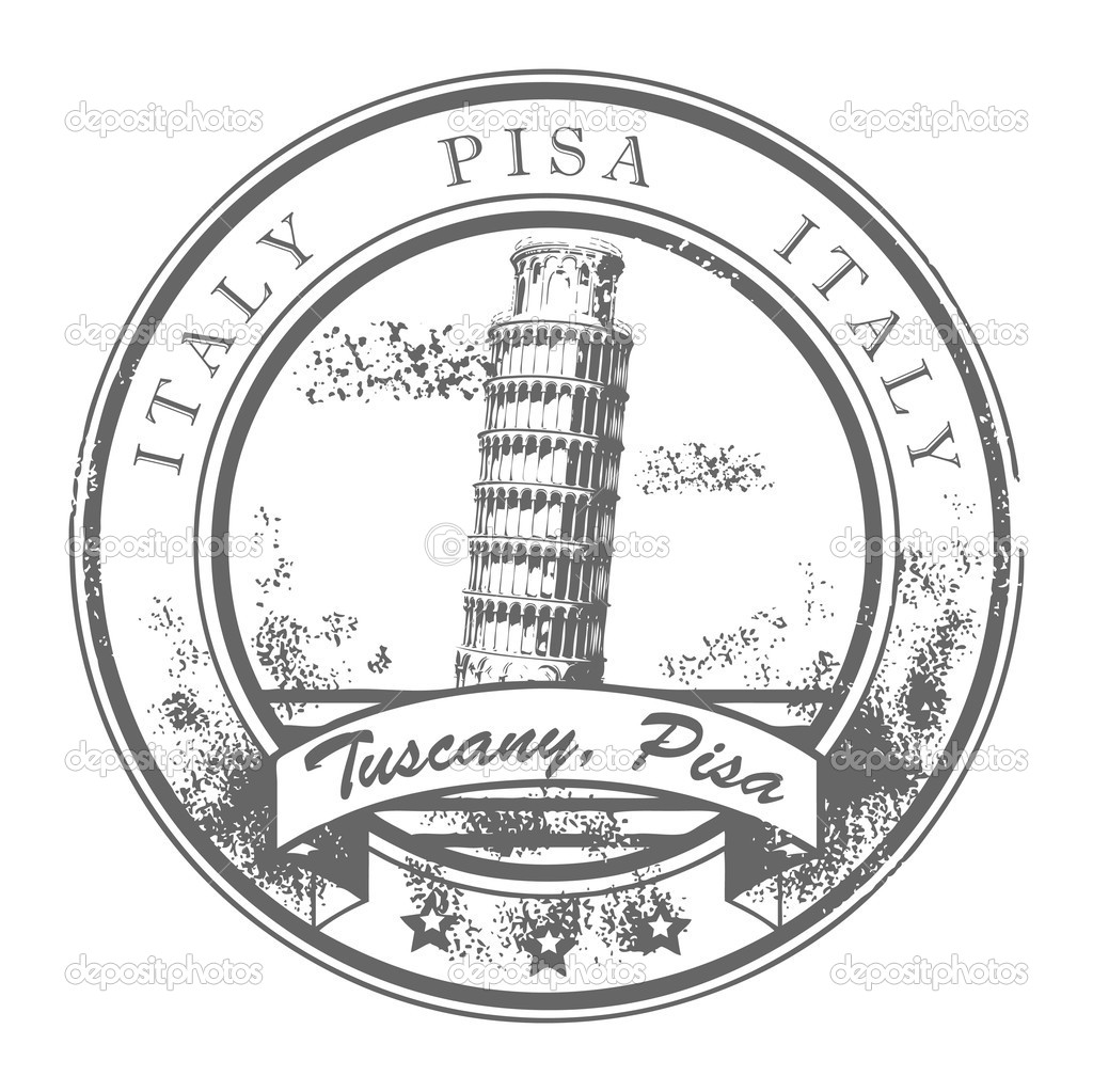Stamp Pisa Italy