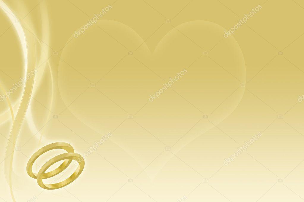 Goldene HochzeitHintergrund mit Eheringe und Herz