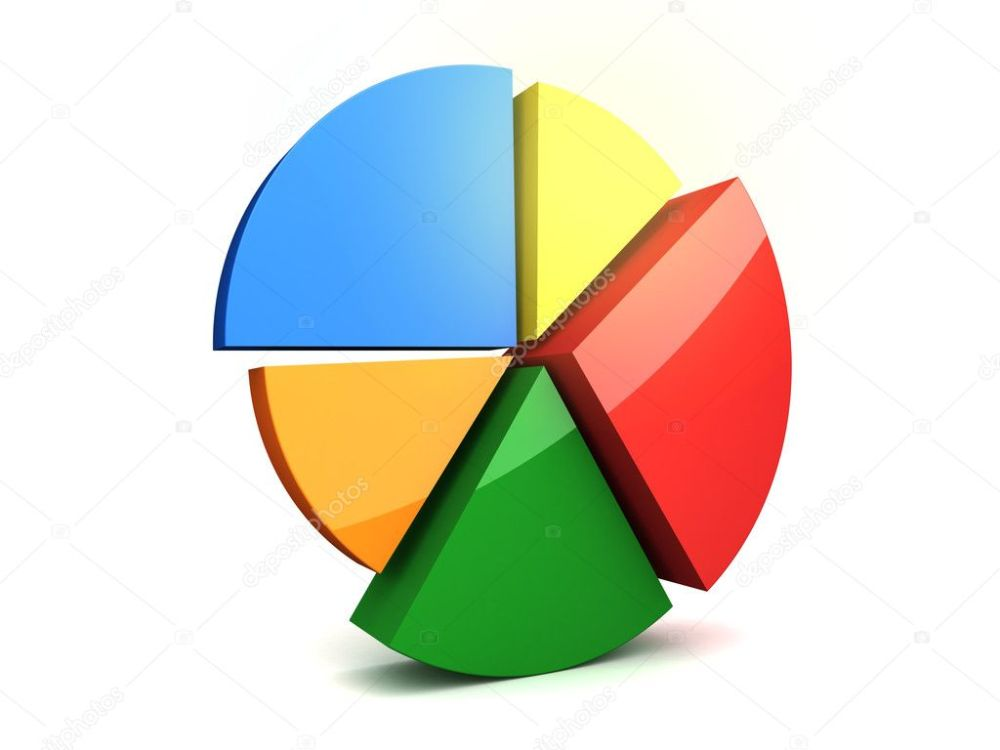 medium resolution of 3d circular diagram on white background photo by